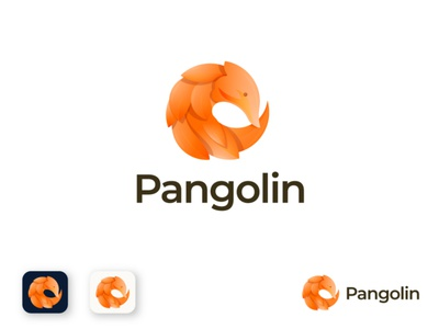 Pangolin logo design animal logo software analysis graphic design gradient technology business illustration design app logo logo brand identity modern logo branding animal