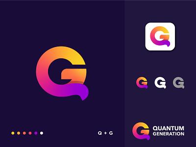 Quantum Generation Logo Design tech graphic design technology symbol software logotype logo mark logo designer logo design business analysis design app logo brand identity branding modern logo letter mark