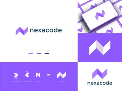 nexacode logo design. web codes bracket creative logo developer n logo letter mark code logo coder coding concept programmer tech logo app design app logo brand identity modern logo branding logo