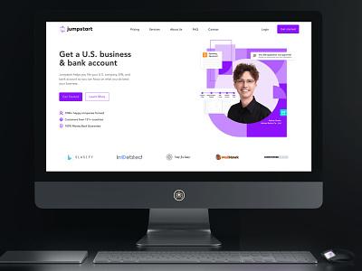 Jumpstart Filings - UI to Webflow webdesign website landingpage uidesign webflow