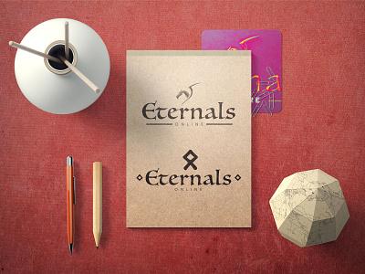 Eternals Online - Logo - Branding design clean art typography logo illustrator illustration identity branding brand