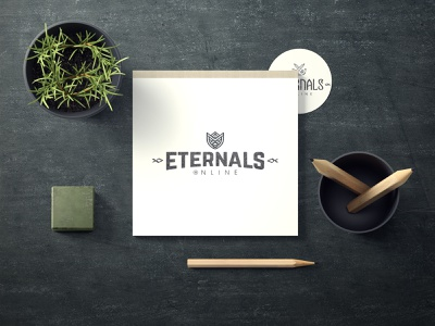 Eternals online illustrator typography logo gaminglogo illustration identity branding brand