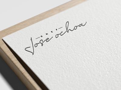 Chef Jose Ochoa personal brand illustrator illustration identity branding brand logo chef