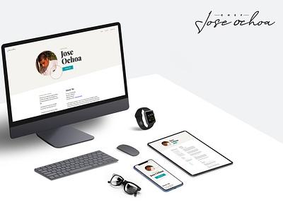 Chef Jose Ochoa - Portfolio ui  ux website design website brand webflow
