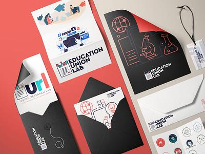 Education Union LAB - Branding concepts clean logo illustrator illustration identity branding brand