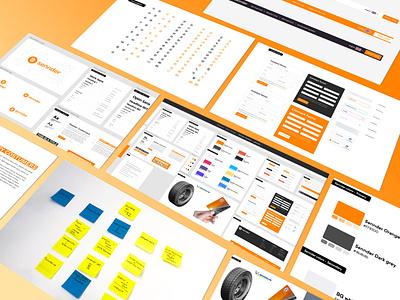Sennder Design System ux uidesign webflow figmadesign designsystem