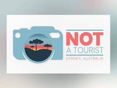 NOT A TOURIST - LOGO icon vector typography minimal logo illustrator illustration identity flat design clean branding brand art