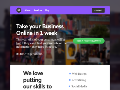 Local Business Landing Page seo  web services online services online marketing marketing agency local business digital agency