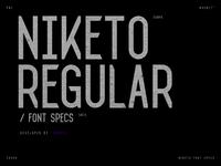 Niketo Regular Font