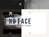 No Face Behind the Mask. Logo treatment and digital poster.