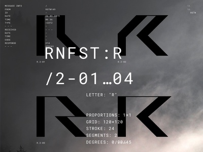 Rainforest Font. Work in progress. typeface type abstract grid modular font typography russia niketo saint-petersburg moscow