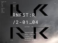 Rainforest Font. Work in progress.