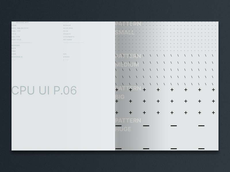 Rainstation / CPUnits Ui Esentials Book / Patterns pattern typeface abstract type identity grid modular typography spb msk russia saint-petersburg moscow