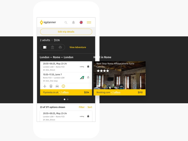 IQplanner Recommended Itinerary planner hotel flight travel trip spb msk saint-petersburg moscow