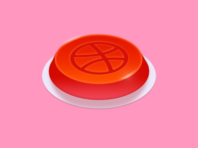 Dribbble Button icon pink ui