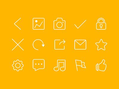 Free 15 Icon icon line free psd