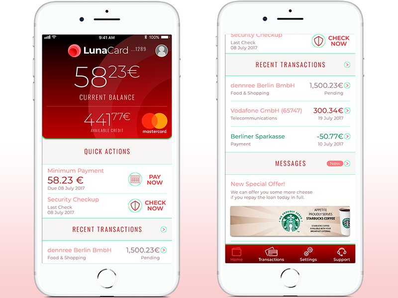 Fintech App Mockup minimalist ux ui credit card online banking apps app iphone interface ios ux ui design