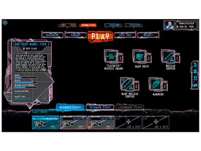 AAA Game User Interface photoshop user interface future console game ux ui gui