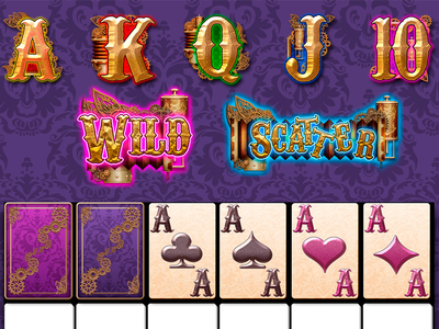 Perchta Game Elements buttons ui steampunk photoshop slot gambling illustration game casino design icon logo