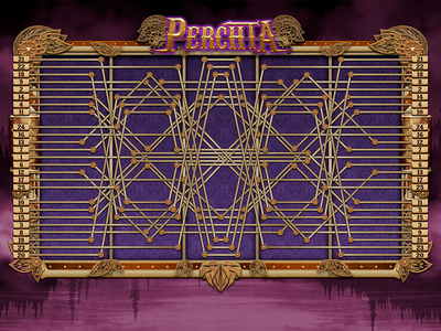 Perchta Gameplay logo icon design game illustration gambling slot user interface buttons ui photoshop steampunk