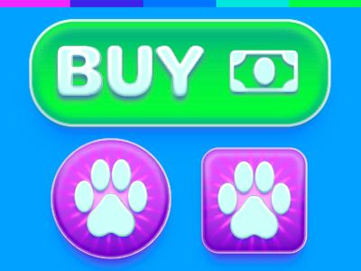 Mobile Game UI Buttons app mobile gui vector design ui game user interface illustrator photoshop