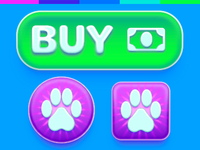 Mobile Game UI Buttons
