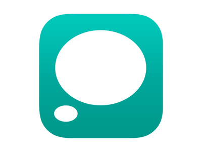 Off The Mind - Icon icon ios teal note thought bubble