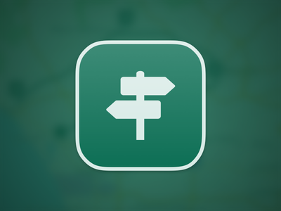 Waypoints - Icon icon ios green directions map signpost