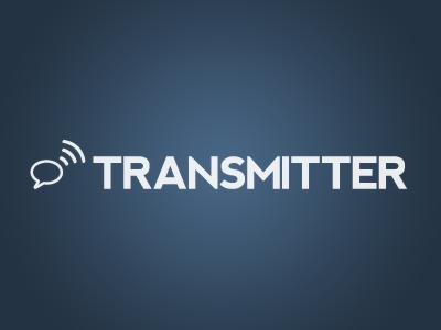 Transmitter Logo blue gradient message broadcast