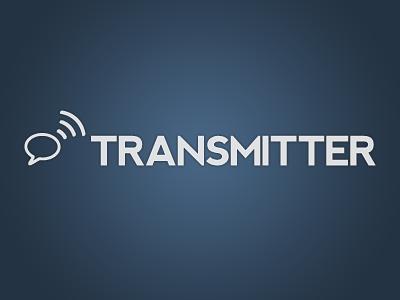 Transmitter Logo - Updated blue gradient message broadcast