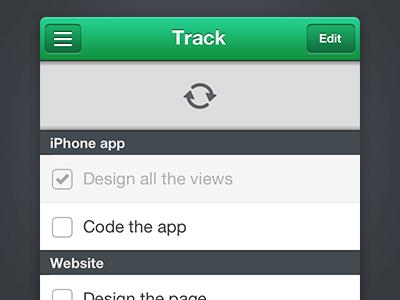 Track - To-dos iphone app todo checkmark checkbox sync list