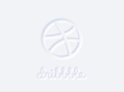 neumorphic dribbble logo