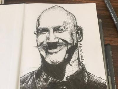 Bronson Smiling!!! tom hardy bronson drawing movie ivannov illustration