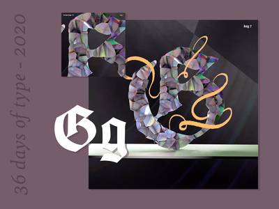 36 Days of Type 2020 – g h I j k l motion design 36daysoftype07 36daysoftype animation texture iridescent illustration design cinema 4d c4d 3d