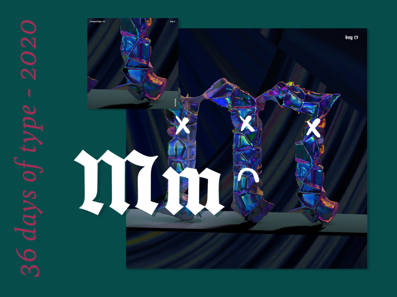 36 Days of Type 2020 – m n o p q r motion design 36daysoftype07 36daysoftype animation texture iridescent illustration design cinema 4d c4d 3d