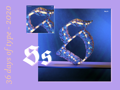 36 Days of Type 2020 – s t u v w x motion design 36daysoftype07 36daysoftype animation texture iridescent illustration design cinema 4d c4d 3d
