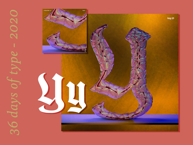 36 Days of Type 2020 – y z 0 1 2 3 4 motion design 36daysoftype07 36daysoftype animation texture iridescent illustration design cinema 4d c4d 3d