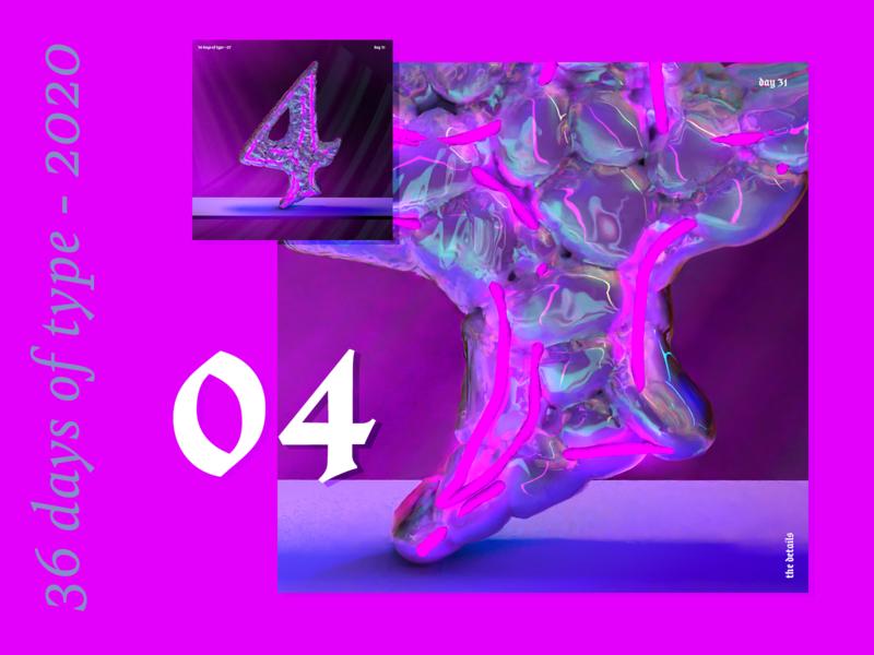36 Days of Type 2020 – 4 5 6 7 8 9 motion design 36daysoftype07 36daysoftype animation texture iridescent illustration design cinema 4d c4d 3d
