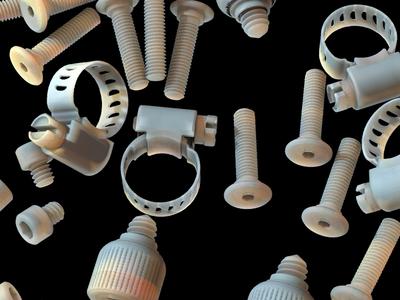 nuts and bolts n.02 texture iridescent illustration design cinema 4d c4d 3d