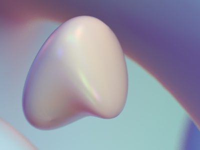 soft rock texture iridescent illustration design cinema 4d c4d 3d