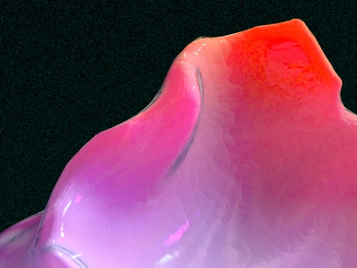 a mountain? texture iridescent illustration design cinema 4d c4d 3d