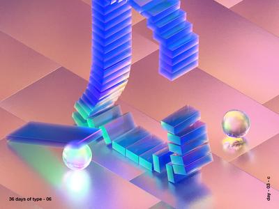 36 days of type c texture iridescent illustration design cinema 4d c4d 3d