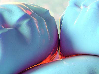 pillow6 texture iridescent illustration design cinema 4d c4d 3d