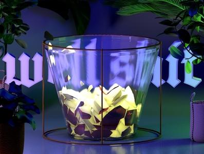in-visible texture iridescent illustration design cinema 4d c4d 3d