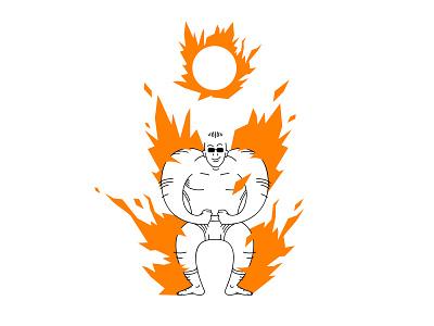 Superhero concept challenge superhero illustracja redraw character design adobe illustrator vector simple illustration