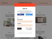 L&L romantic inspiration website design & build