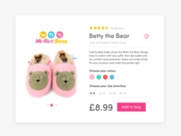 Minifeet Shoes #Daily UI Challenge #012 E-Commerce Shop
