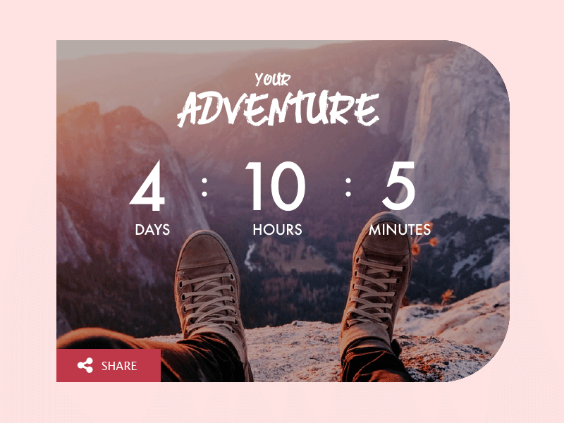 Daily UI #014 simple countdown page uichallenge timer countdown signup ui 014 dailyui