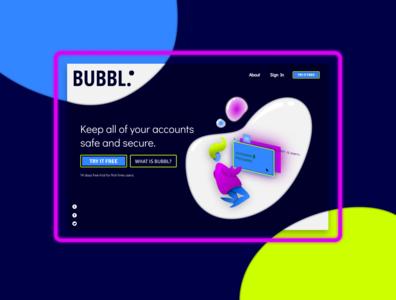 Bubbl. Landing Page