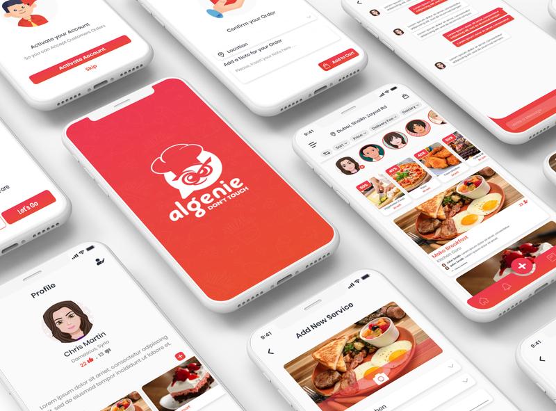 Cooking Services App colors illustration adobe photoshop ui  ux design mobile app adobe xd design ux ui